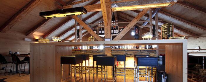 Bar em chalé do Whitepod