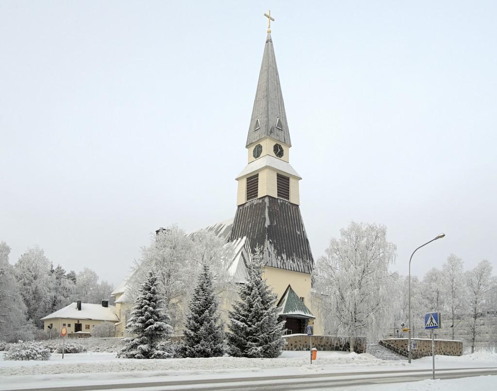 Igreja na cidade de Rovaniemi, Finlândia