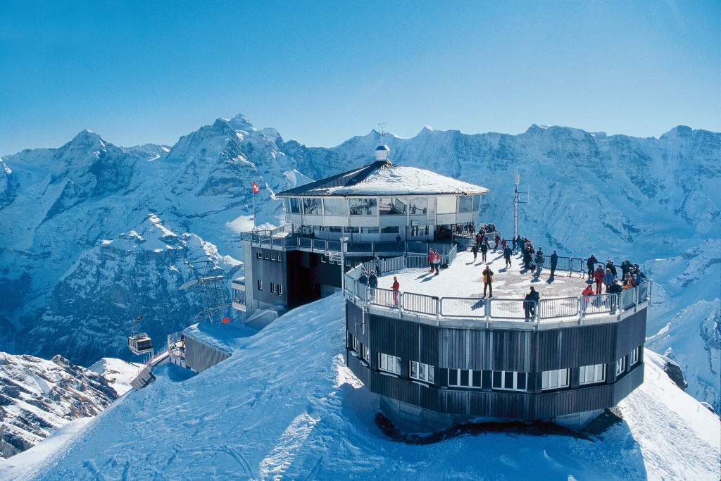 Piz Gloria no monte Schilthorn, Suíça
