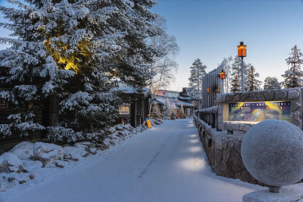 Vila de Santa Claus em Rovaniemi, na Finlândia.