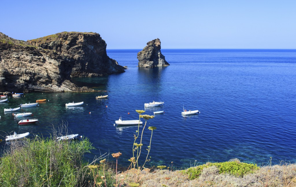 View of Faraglioni in the Pantelleria island, Sicily