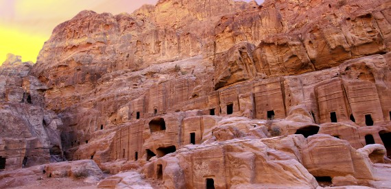As ruínas de Petra – uma das novas maravilhas do mundo
