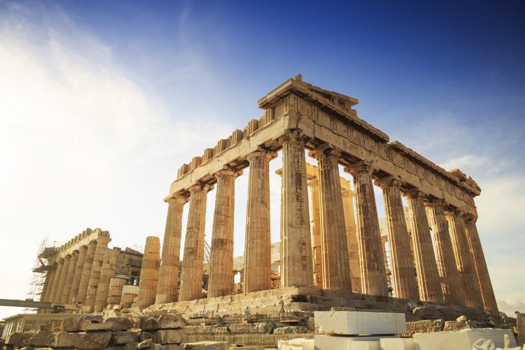 Acropolis Hill, o Partenon, em Atenas