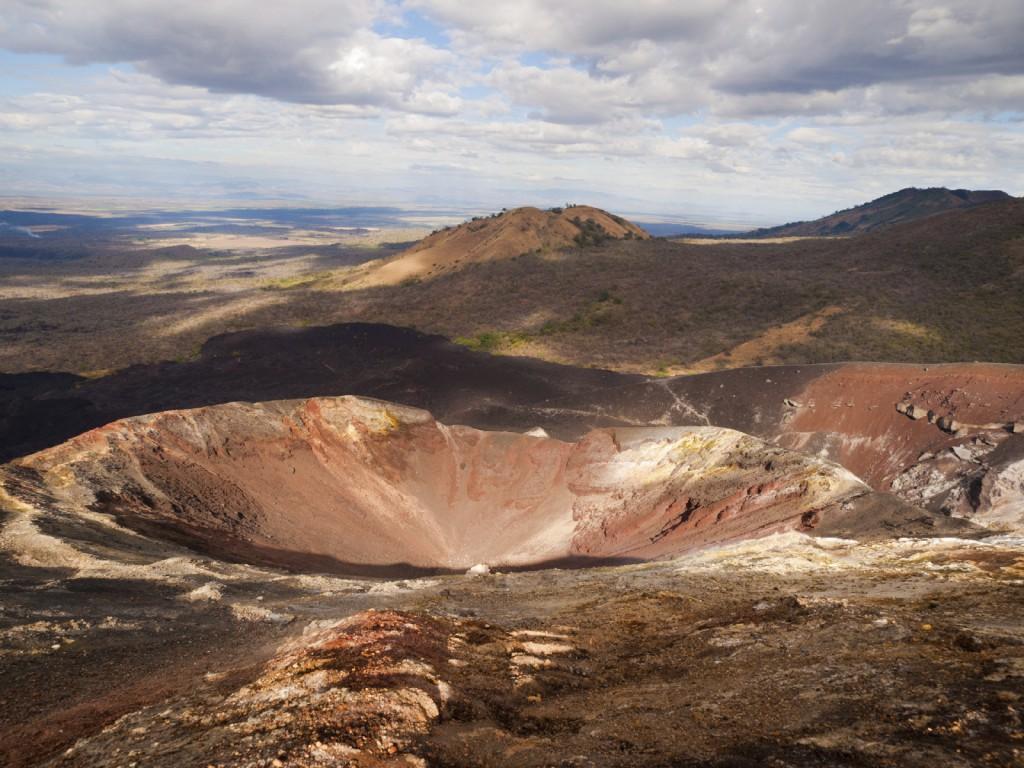 O vulcão Cerro Negro
