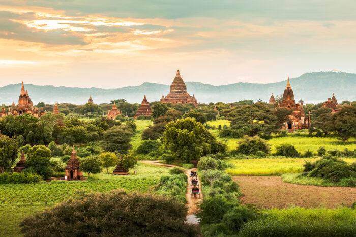 Templos antigos de Bagan