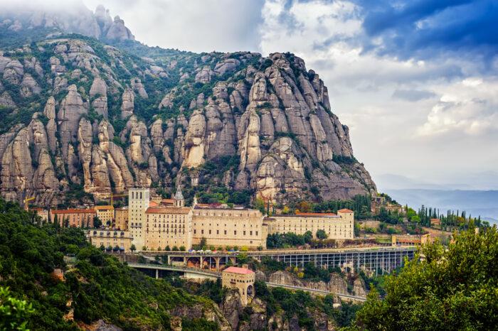 Visão geral do Mosteiro de Montserrat