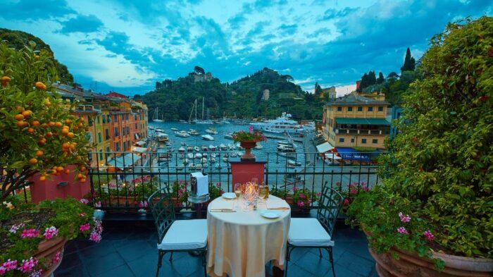 Vista do Hotel Splendido.