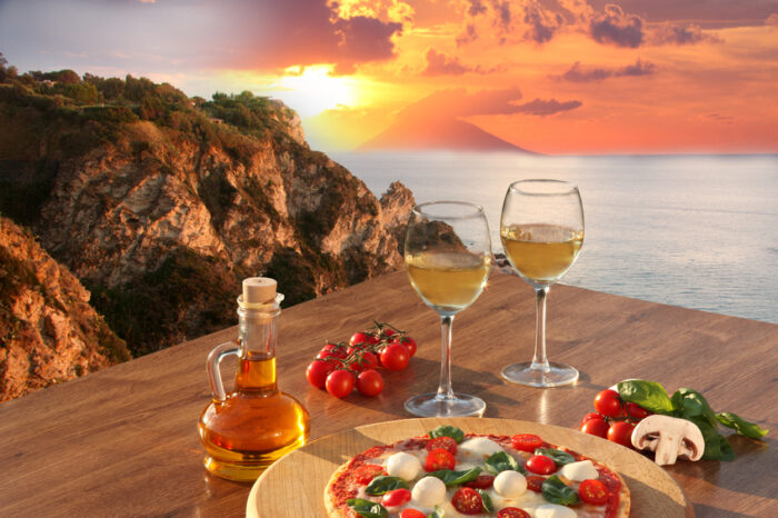 Pizza com os legumes sazonais