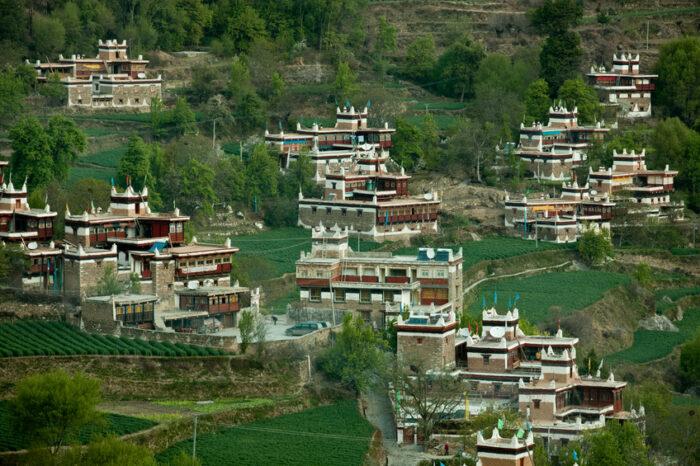 Povo tibetano casa de Danba