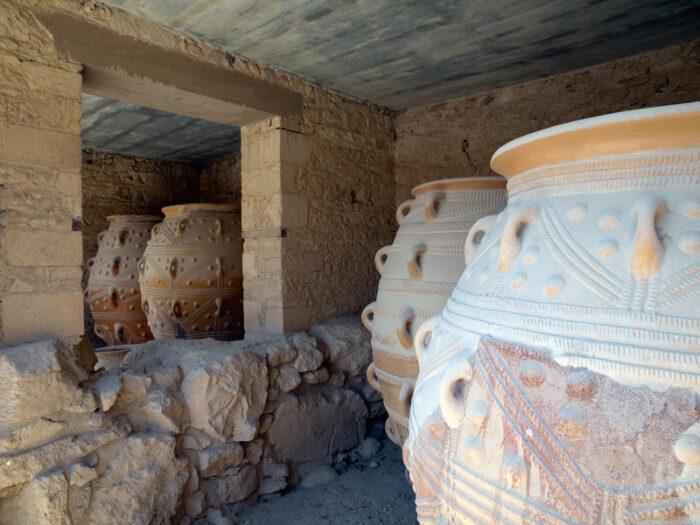 Pithos no Templo de Knossos.
