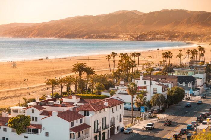 Praia de Santa Mônica, Califórnia