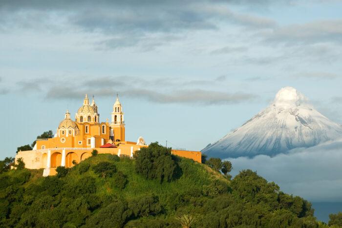 Montanha Popocatepetl-fumantes
