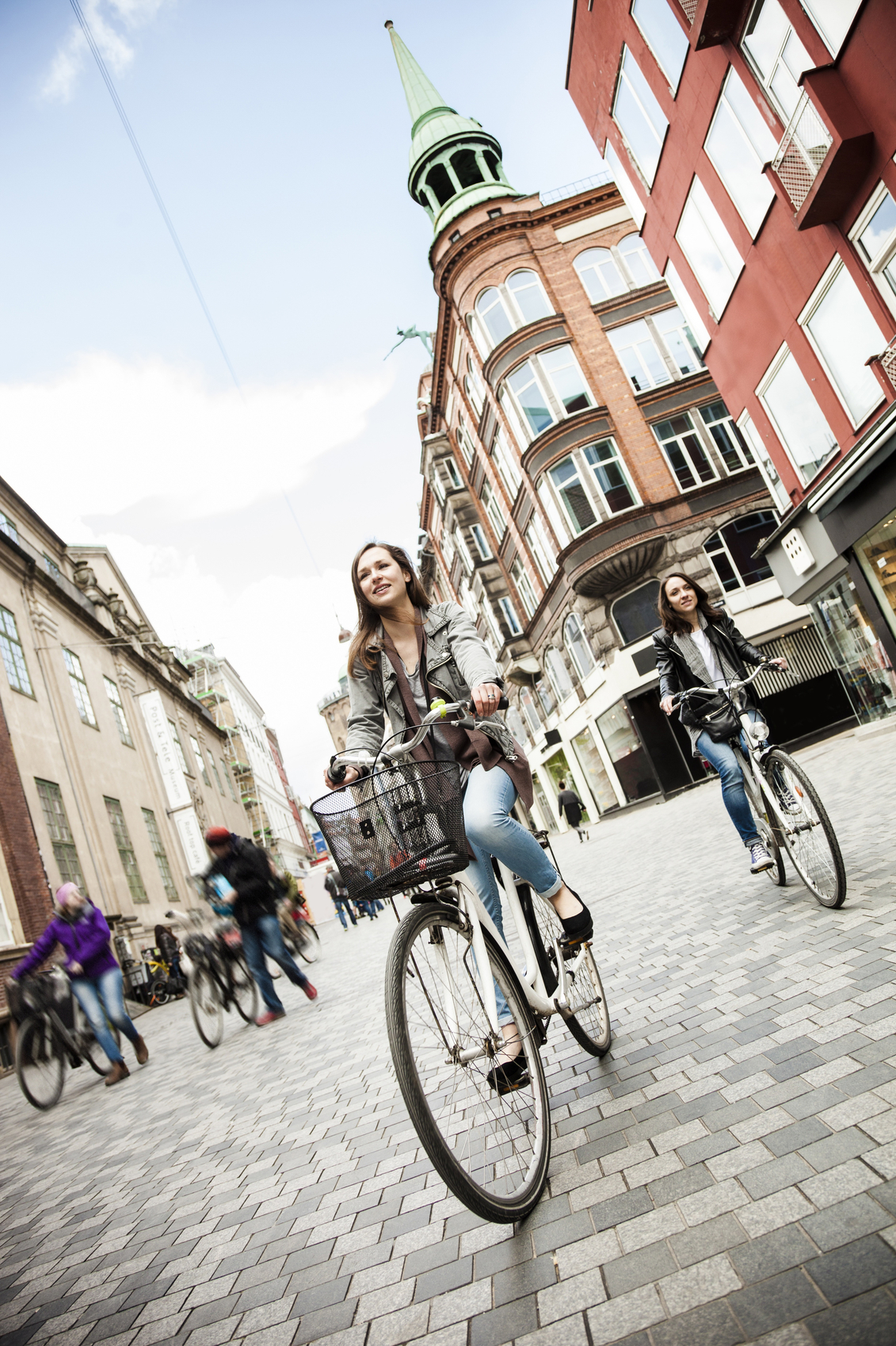 Mulheres ciclismo em Copenhague