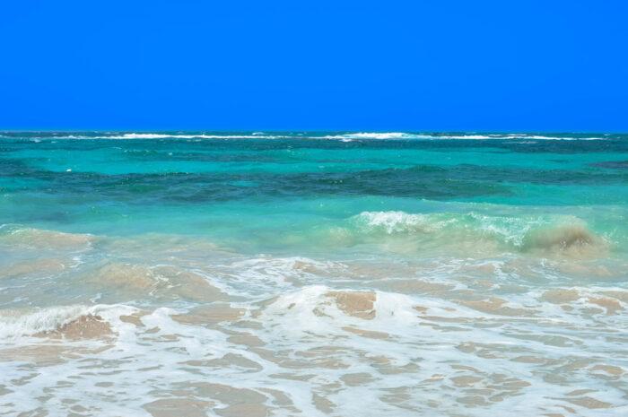 Bela praia tropical no mar do Caribe, Nicarágua