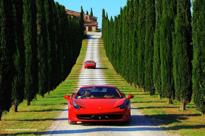Viagem de Ferrari pela Itália