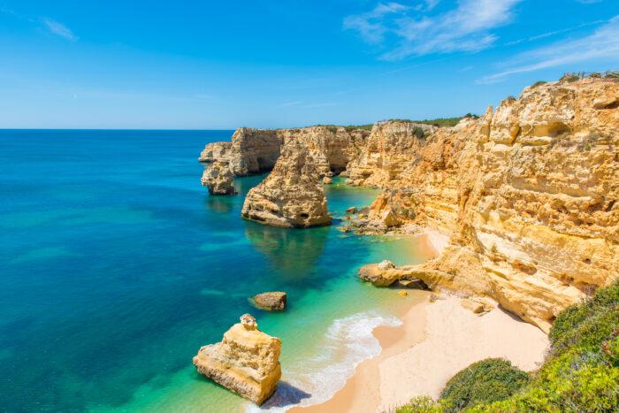 Praia da Marinha-bela Praia Marinha no Algarve, Portugal