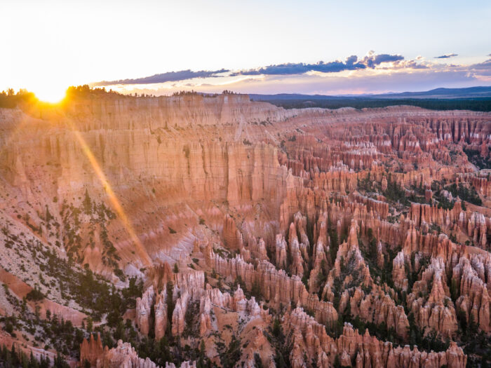 Pôr do sol de Bryce Canyon