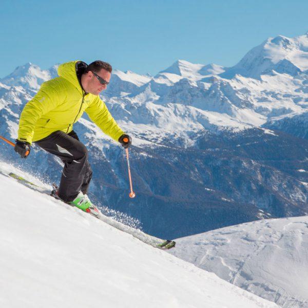 Esquiando em Crans-Montana