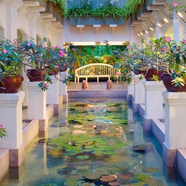 O spa do Mandarin Oriental Bangkok fica na outra margem do rio Chao Phraya